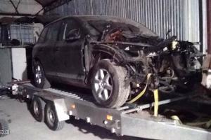 Zdemontowany samochód odnaleziony przez policję
