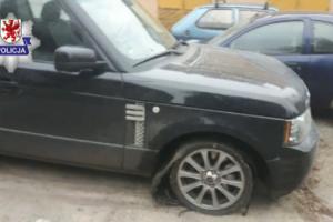 Odzyskany Range Rover